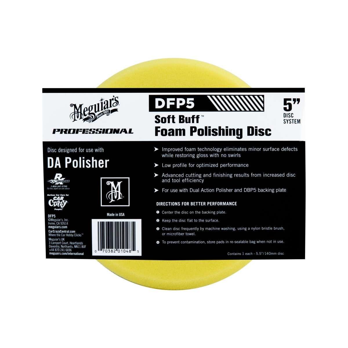 "Meguiar's Soft Buff Foam Polishing Disc 5"""