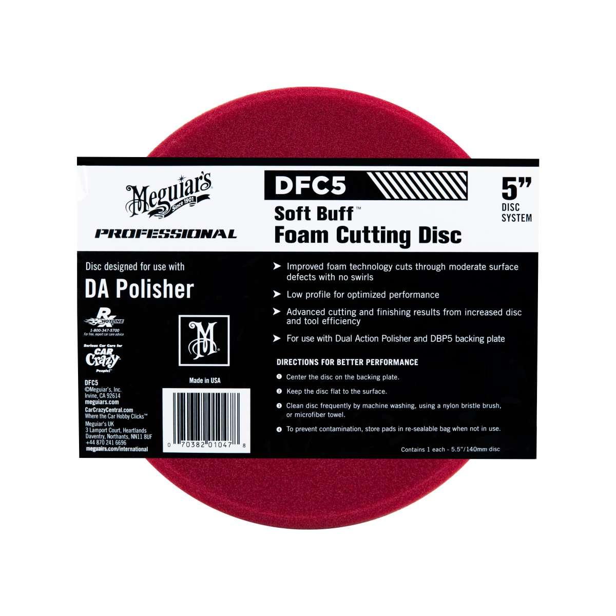 """Meguiar's Soft Buff Foam Cutting Disc 5"""""""